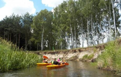 spływ rzeką Grabią